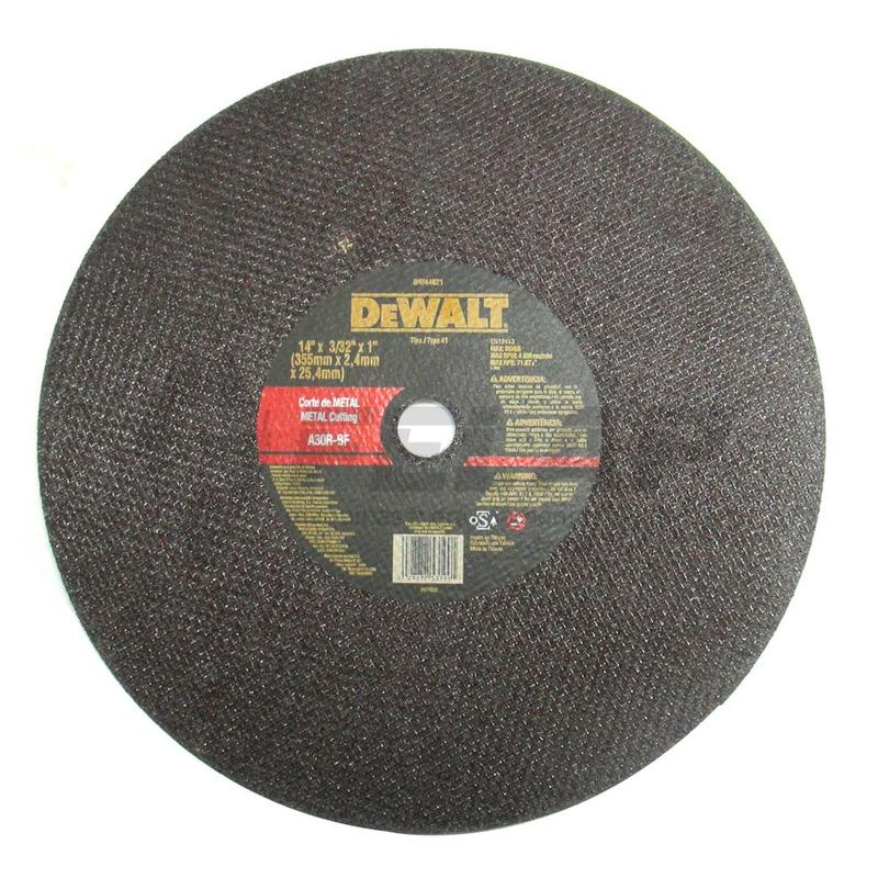 "Disco Corte Dewalt Metal 14"" x 2,5mm x 1"" para D28700"