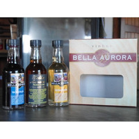 Miniaturas com 3 un. (Vinho Tinto Suave, Jeropiga ou Vinho Branco Licoroso) de 50ml - Bella Aurora