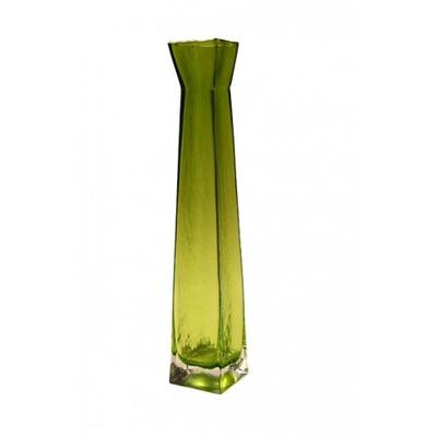 Vaso green grande cristal grosso alta qualidade nobre - Vasos grandes cristal ...