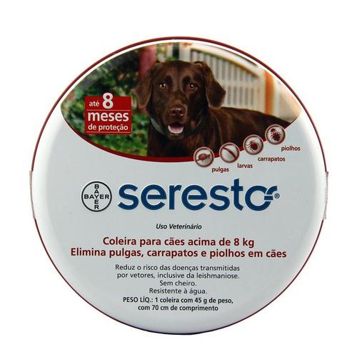 Coleira Seresto Cães Grande - Cães Acima De 8kg Antipulgas