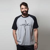 CAMISETA RAGLAN CINZA - CAFÉ