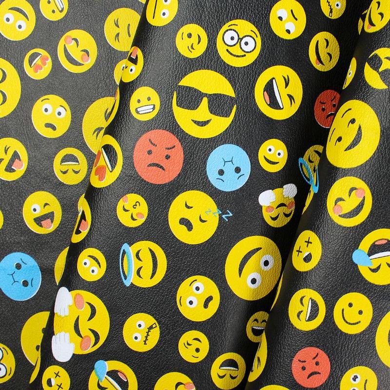 Tecido corino emojis carinhas whats app Larg. 1,40 m