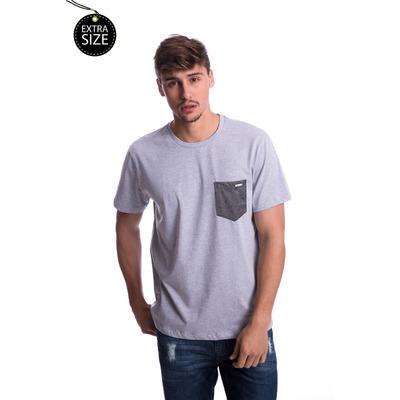 Camiseta Long Island Plus Size Cinza