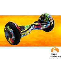 """Skate Elétrico Hoverboard 10"""" com LED e Bluetooth - Foston - Desenho"""