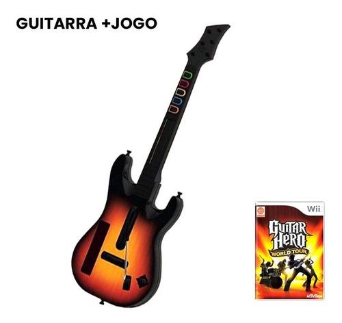 Guitar Hero World Tour + Guitarra - Nintendo Wii - Usado Original