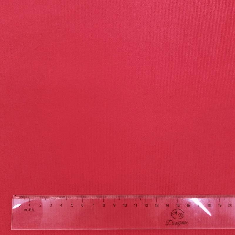 Tecido suede veludo vermelho Larg. 1,40 m