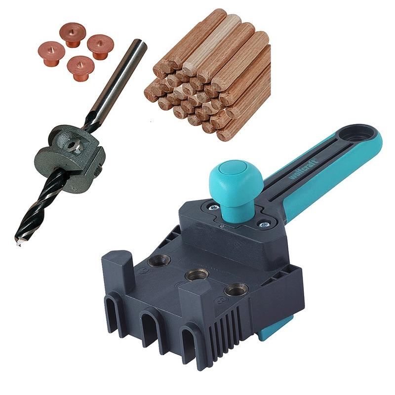 Kit Combo Gabarito para Furação Cavilha 4640 + Conjunto para cavilhar de 8mm 2917 - Wolfcraft