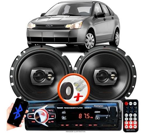 Som Carro Rádio Mp3+ 2 Alto Falante Pioneer D 6'' Pol Ts1790br Ford Focus Original