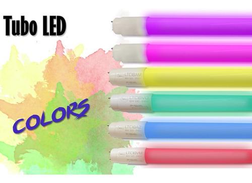 Lampada Tubo Led 18w Colorida 9 Cores A Escolha 1,20 Metros Original