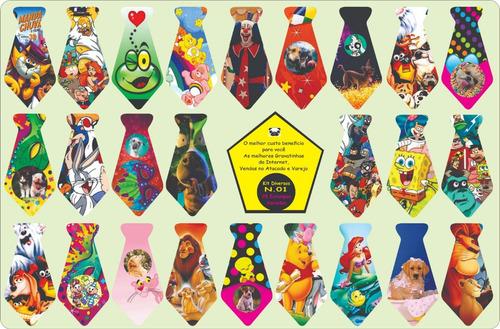 Gravatinhas Pet Banho E Tosa   200 Estampas Diferentes Couro Original