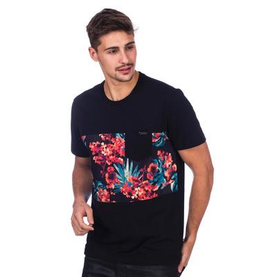 Camiseta Long Island Floral Preta