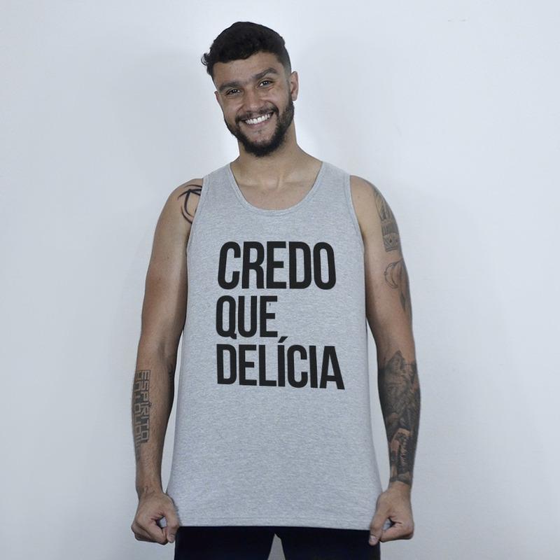 CAMISETA REGATA CINZA - CREDO