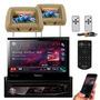 Dvd Retratil Pioneer Tela 7 P Bluetooth Tela Encosto Bege