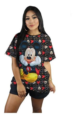 T-short Mickey Disney Camiseta Personalizada Blusinha Top Original