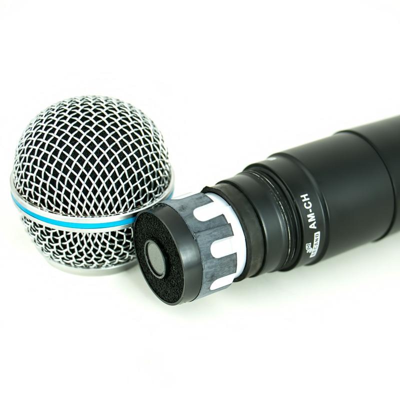 Microfone Arcano Sem Fio Duplo Uhf Am-ch Capsula Beta
