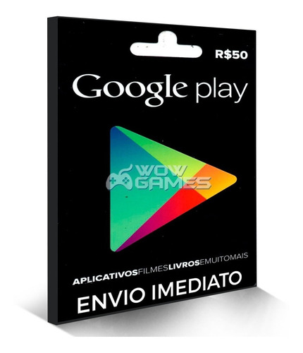 Gift Card Google Play Store  Reais Android Brasil Br Original