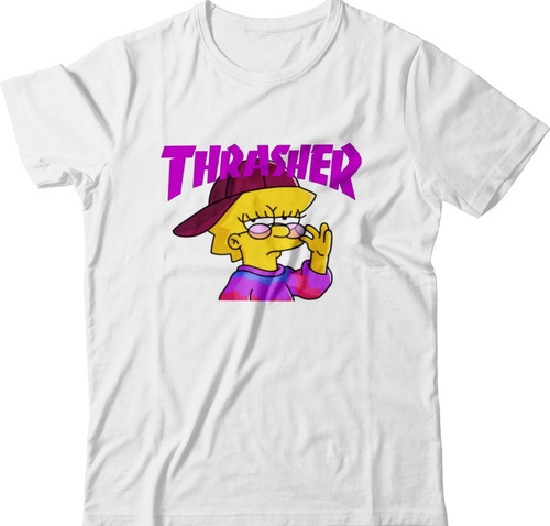 Camiseta Lisa Simpson Swag Thrasher Moda Tumblr Envio Rapido Original