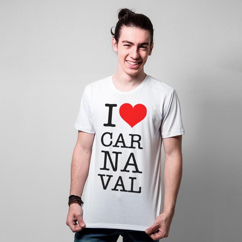 CAMISETA BRANCA - LOVE CARNAVAL