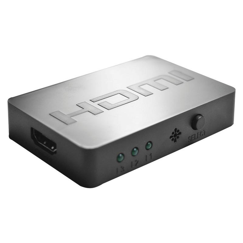 Switch HDMI 3Portas com Controle Multilaser - WI290