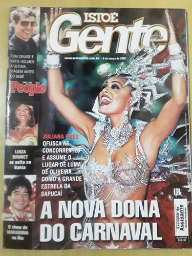 Pl265 Revista Isto É Gente Nº341 Mar06 Maradona Juliana Paes Original