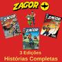 Revista Hq Gibi Zagor 166, 167 E 168 Histórias Completas