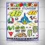 Cartela 2018 Valentino Rossi Resinado Moto Gp Corrida