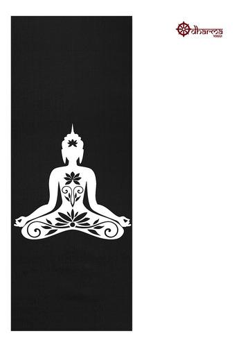 Tapete Yoga Premium Black Estampa Buda 2,00m - 5mm