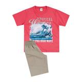 Conjunto Camiseta e Bermuda Brandili