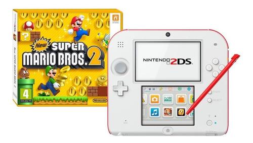 Nintendo 2ds New Super Mario Bros 2 Branco E Vermelho Original