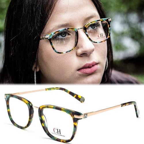 6f3fa4ded58ee Armação Oculos Grau Feminino Acetato Cr10 Importado Original à venda ...