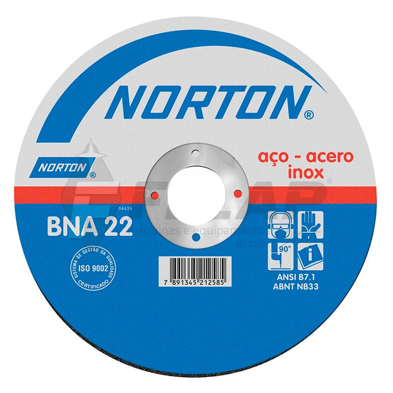 Disco de Corte BNA22 Norton 228,6 x 2,0 x 22,22mm