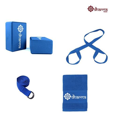 Acessórios Yoga E Pilates Completo Azul Céu