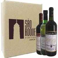 Kit Vinho Bordô Suave + Seco + Branco Niagara - Quinta dos Guimarães