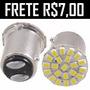 Lâmpada Luz Ré E Freio 1/2 Polo 25 Leds P21w Led 1156 1157