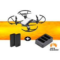 Drone Ryze/Dji Tello + Bateria Extra + Carregador Triplo - Branco