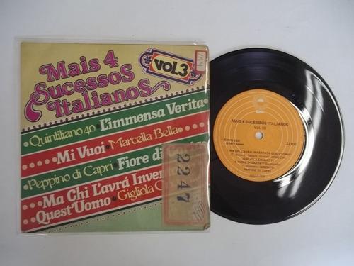 Vinil Compacto Ep - Mais 4 Sucessos Italianos Vol 3 Original