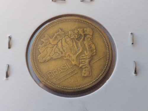 Df135= Moeda 1 Crz 1950 Defeito Inclinada + Linha Original