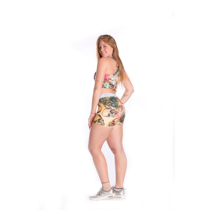 Shorts Cós Elastico Caveira