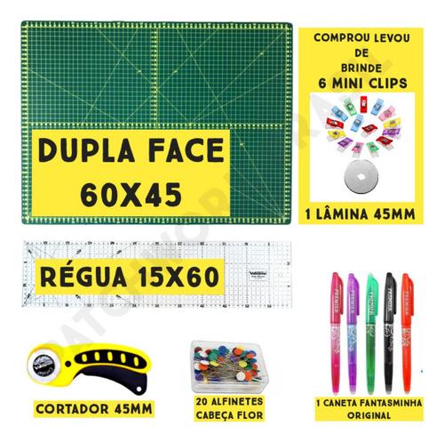 Kit Base De Corte 60 +régua 60 +cortador Patchwork Scrapbook Original