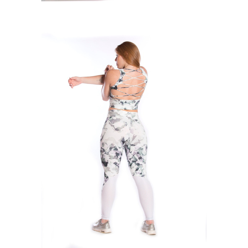 Legging Retro Friso Light Plus Camuflado