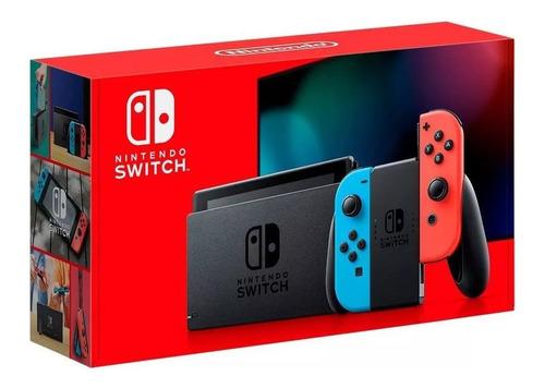 Console Nintendo Switch Colorido Bateria Estendida Envio Já Original
