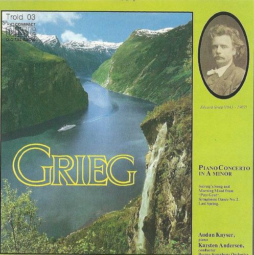 Cd - Grieg - Piano Concerto In A Minor - Audun Kayser Original