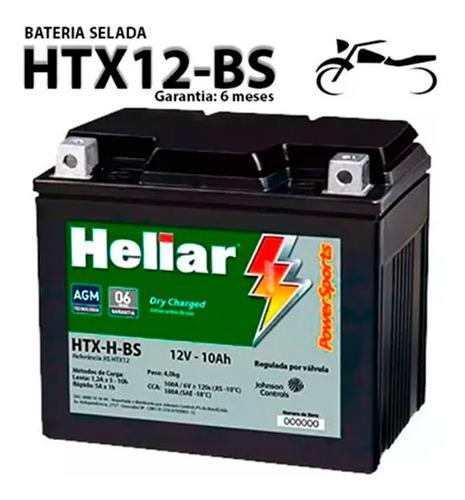 Bateria  Heliar Htx12-bs Yamaha Tdm 850 92..93 Original