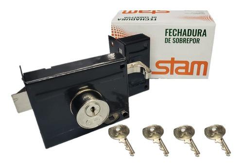 Fechadura Sobrepor P/ Portão Stam 701/100 Com 4 Chaves Original