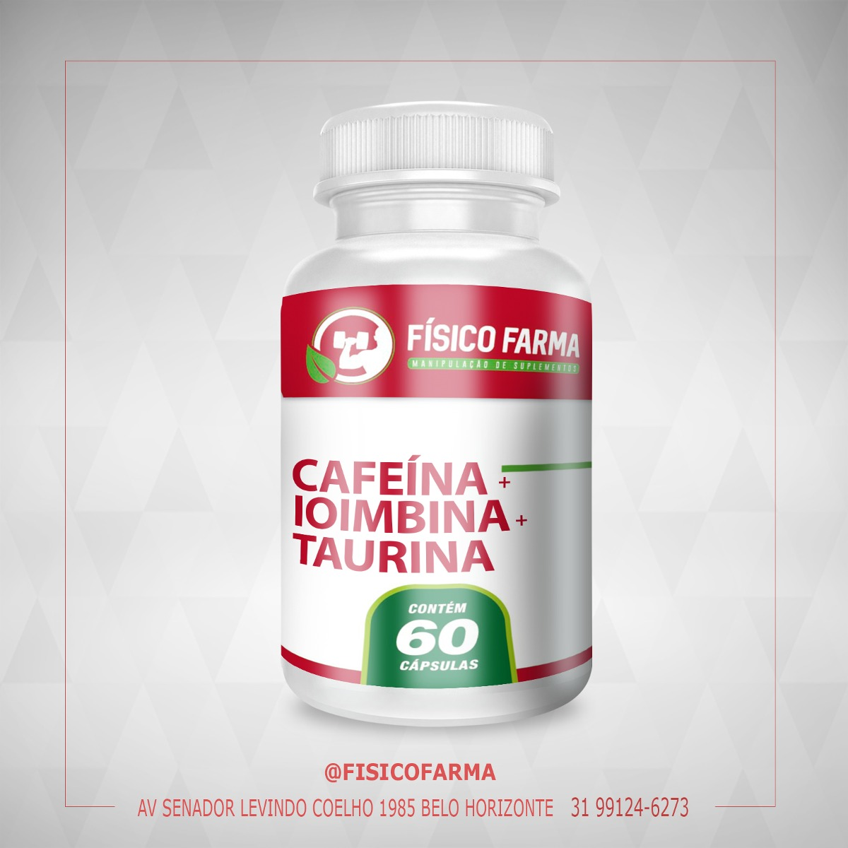 Cafeína 210mg + Ioimbina 5mg + Taurina 200mg - 60 ...