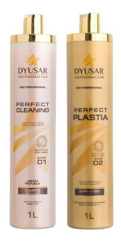 Kit Escova Progressiva Perfect Plastia Dyusar  1 Litro Original