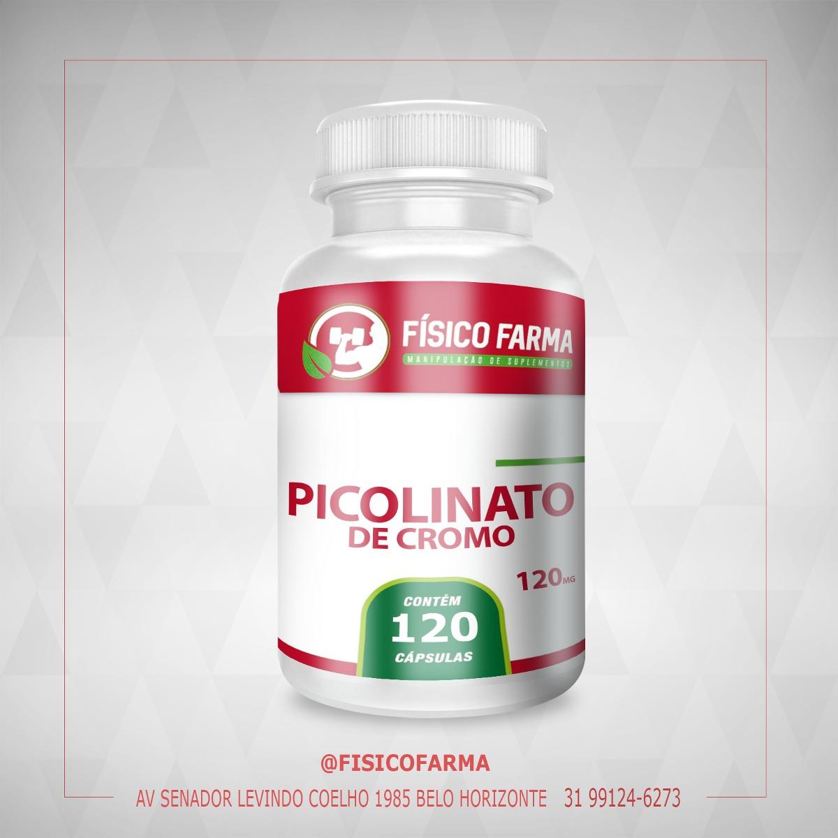 Picolinato de Cromo 200 mcg - 120 Cáps