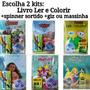 Livro Colorir Princesas Minnie Moana Magali Giz Massinha