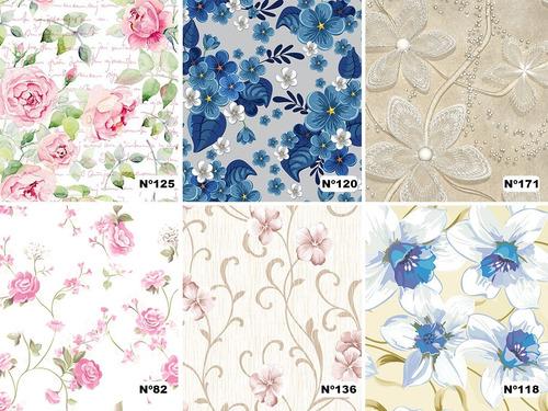 Papel De Parede Floral Flores Diversos Modelos Autocolante Original