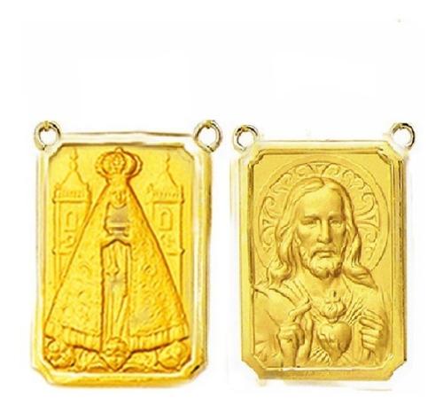 Medalha P/ Escapulario 27 Imagens De Santos Ouro 18 T4-o Original